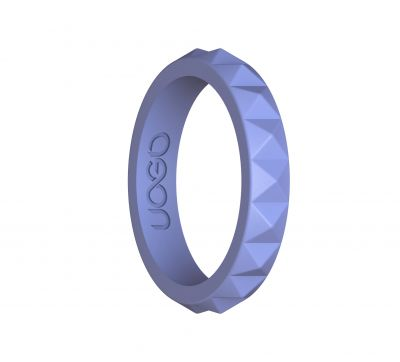 Women's Luscious Lilac Diamond Stax Series Silicone Ring