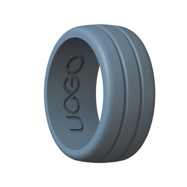Men's Stone Gray Track Inspired Series Silicone Ring