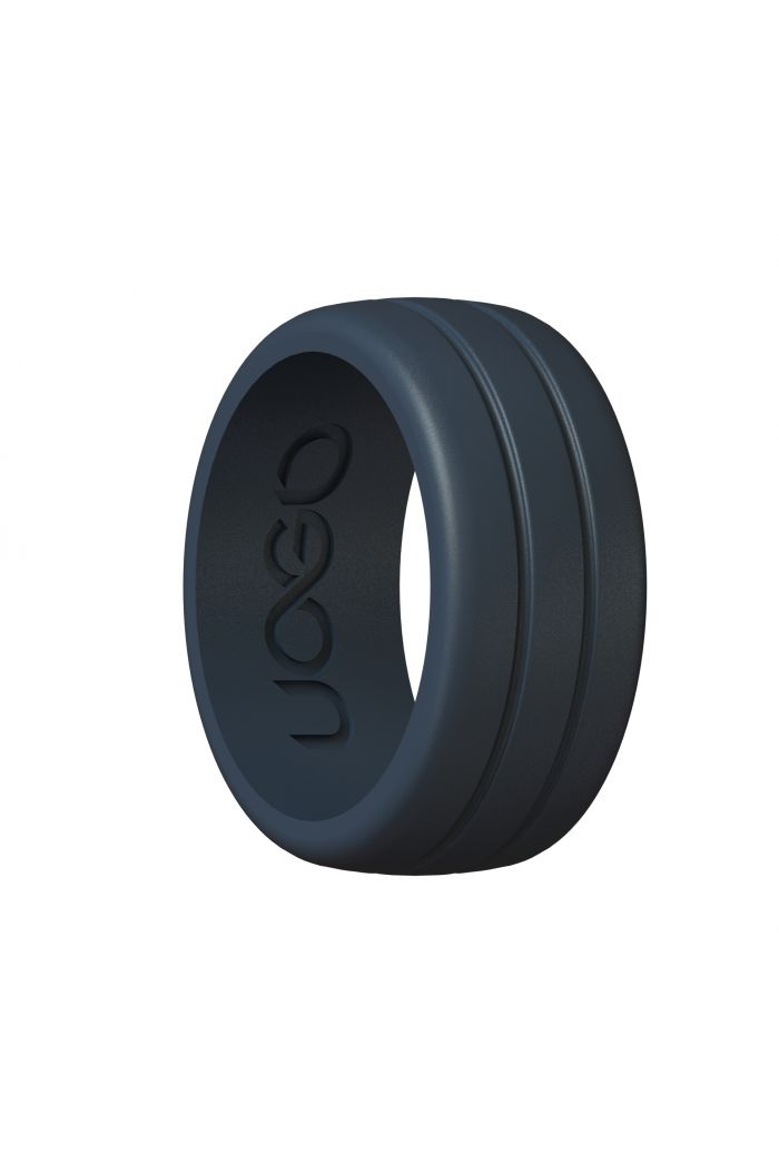 Men's Carbon Black Track Inspired Series Silicone Ring