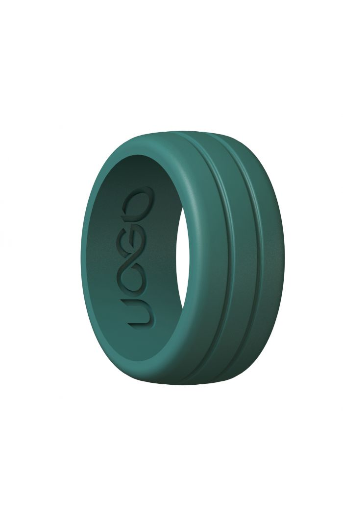Men's Forest Green Track Inspired Series Silicone Ring