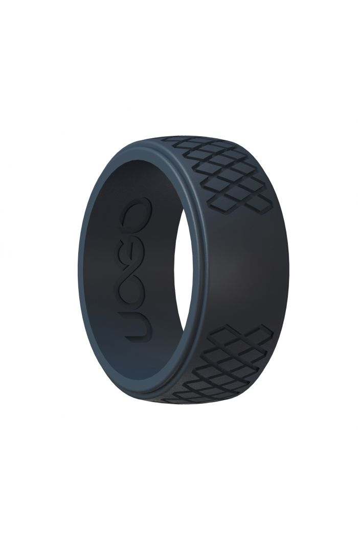Men's Carbon Black Grip Series Silicone Ring