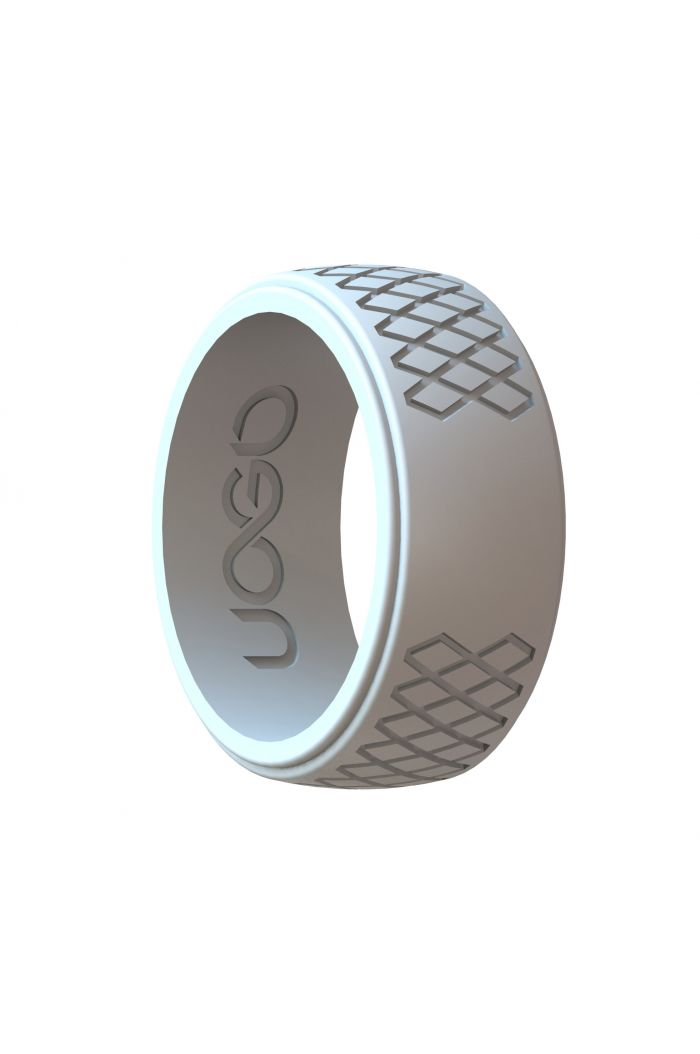 Men's Cloud Gray Grip Series Silicone Ring