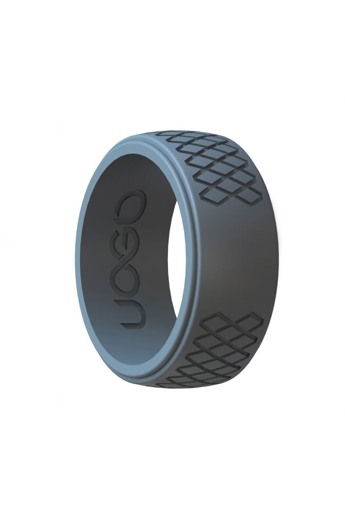 Men's Stone Gray Grip Series Silicone Ring