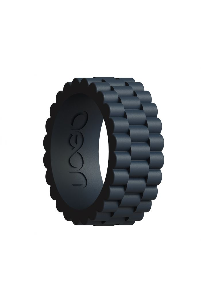 Men's Carbon Black J12 Series Silicone Ring