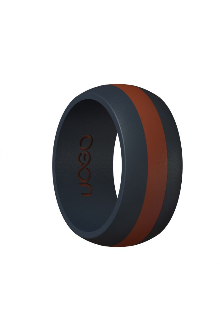 Men's Carbon Black/Race Red Track Inspired Silicone Ring