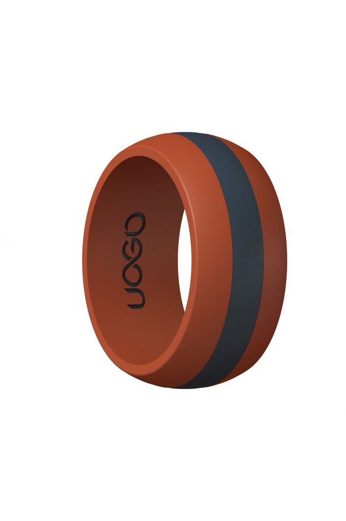 Men's Race Red/Carbon Black Track Inspired Silicone Ring