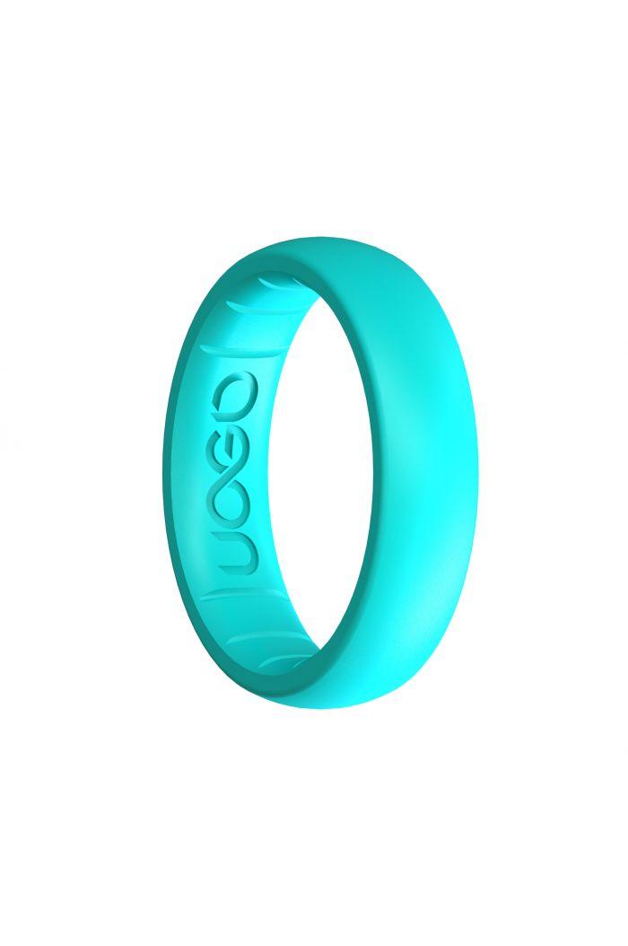 Women's Aqua Azure Sport Series Silicone Ring