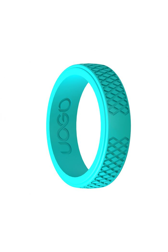 Women's Aqua Azure Grip Series Silicone Ring
