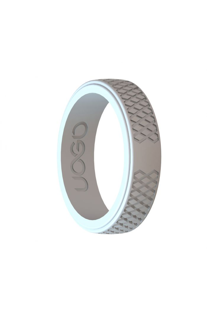 Women's Arctic White Grip Series Silicone Ring