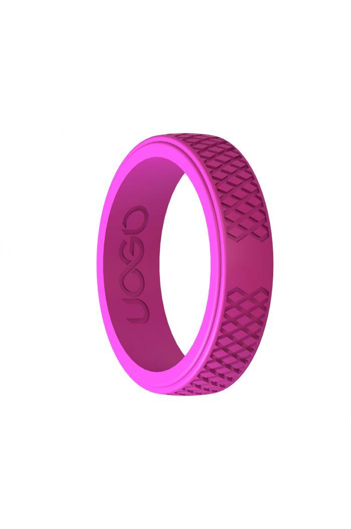 Women's Peony Pink Grip Series Silicone Ring