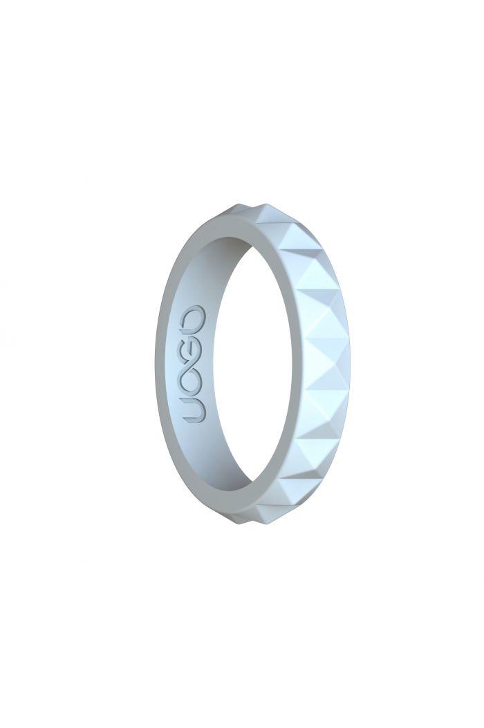 Women's Arctic White Diamond Stax Series Silicone Ring