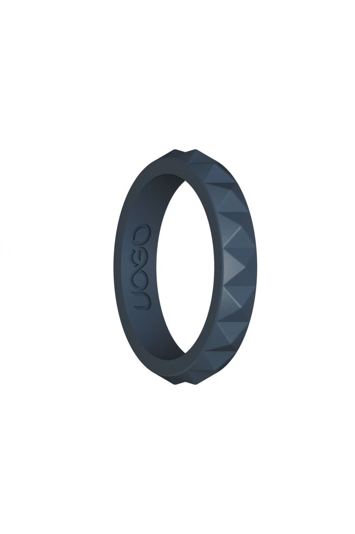 Women's Carbon Black Diamond Stax Series Silicone Ring