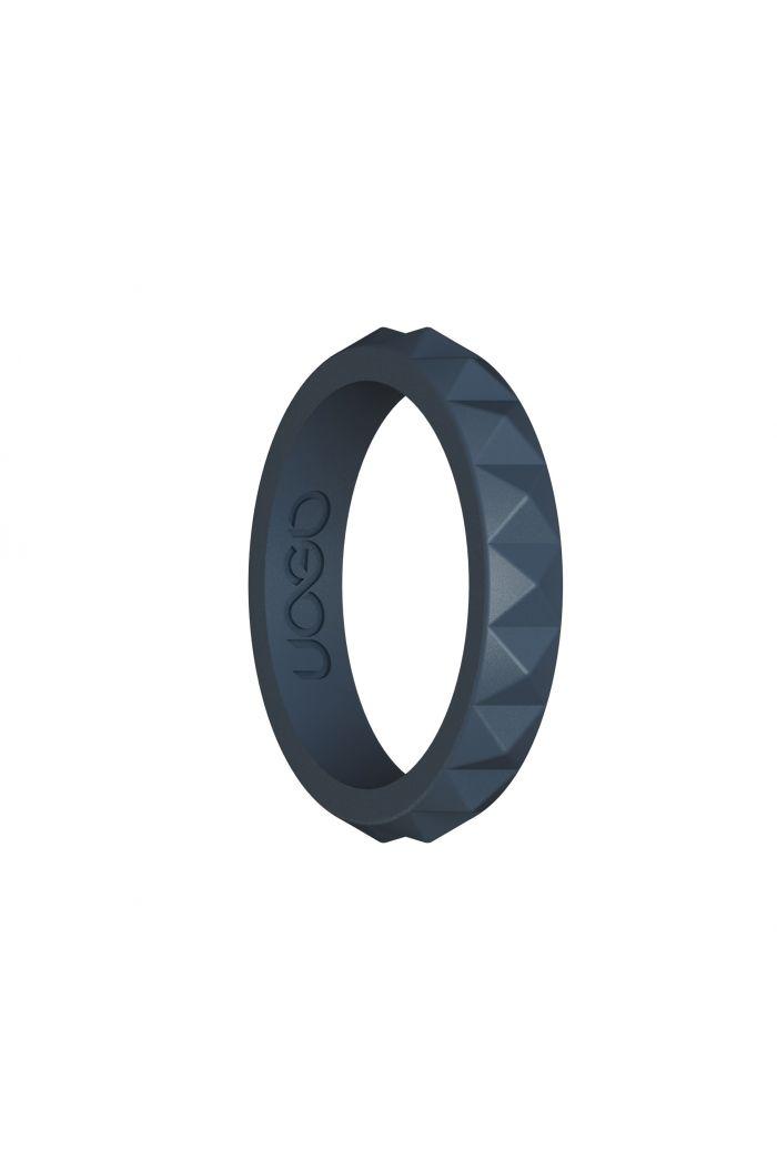 Women's Carbon Black Diamond Stax Series Silicone Ring
