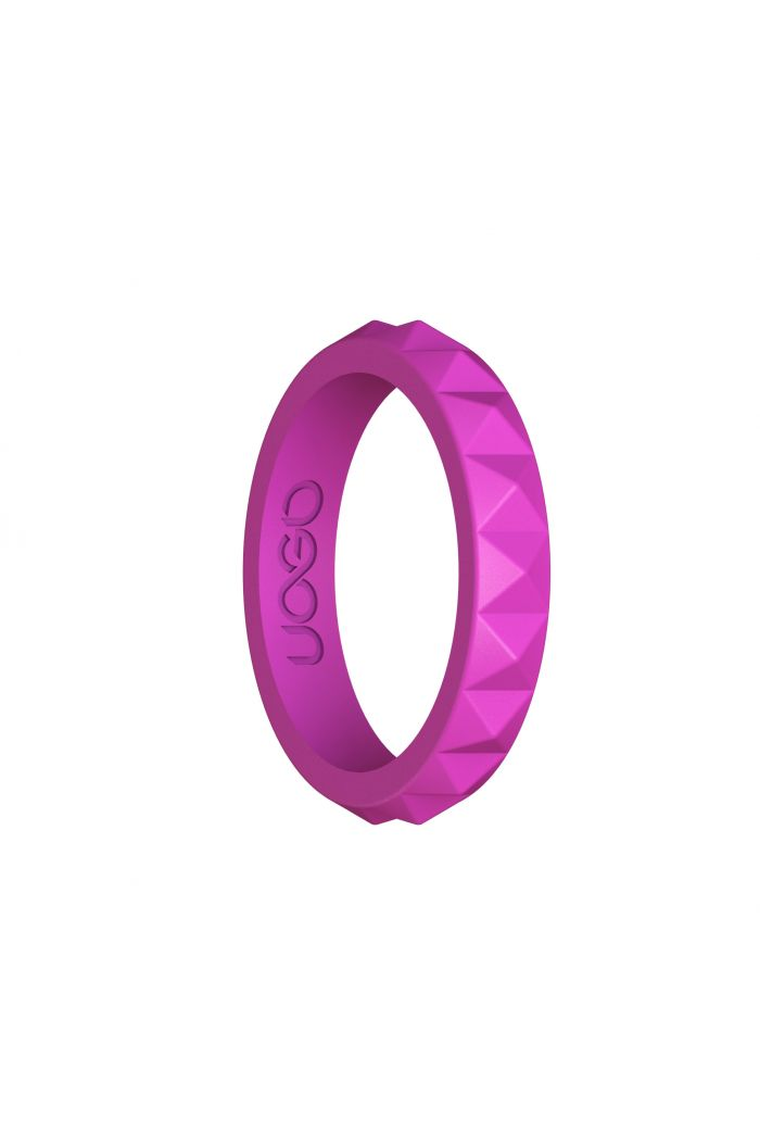 Women's Peony Pink Diamond Stax Series Silicone Ring