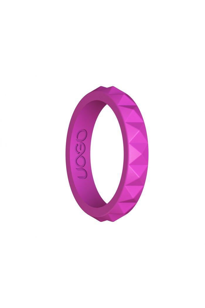 Women's Peony Pink Diamond Stax Series Silicone Ring