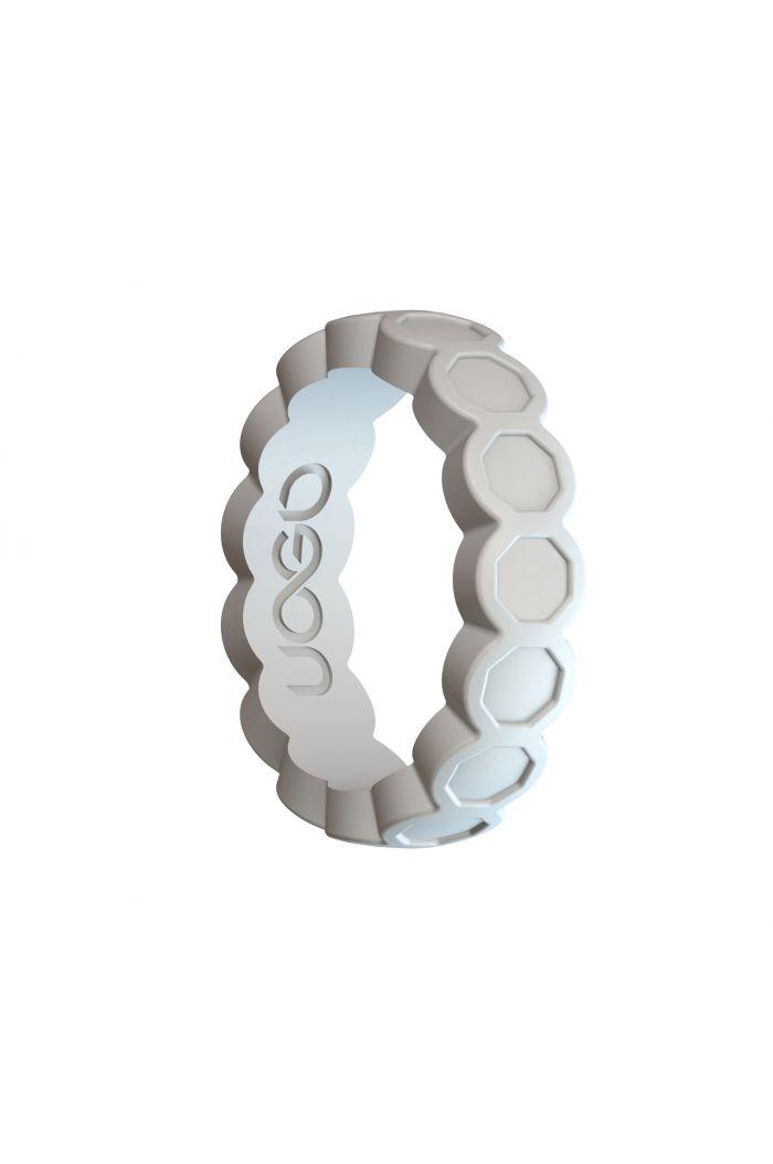 Women's Arctic White Aeon Diamond Series Silicone Ring