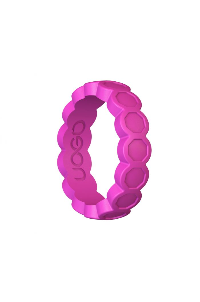 Women's Peony Pink Aeon Diamond Series Silicone Ring