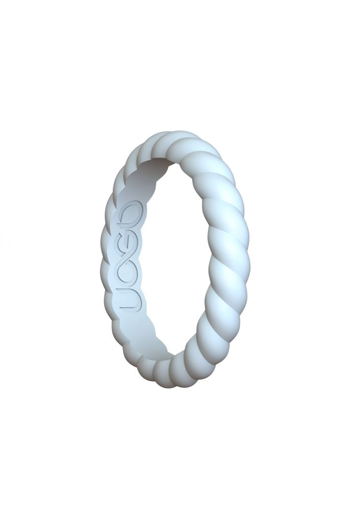 Women's Arctic White Helix Stax Series Silicone Ring