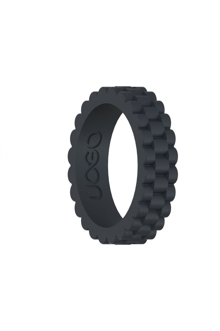 Women's Carbon Black J12 Series Silicone Ring