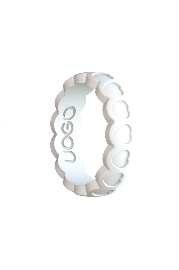 Women's Arctic White Aeon Heart Series Silicone Ring
