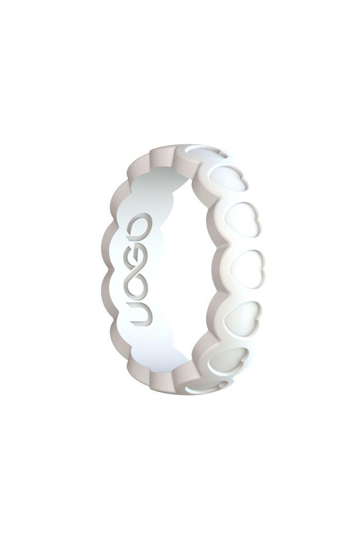 Women's Arctic White Aeon Heart Series Silicone Ring